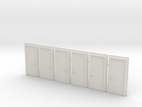 Door Type 4 - 810 X 2000 X 6 in White Natural Versatile Plastic: 1:76