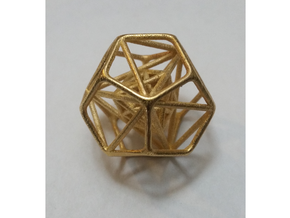 Nested Platonic Solids in Polished Gold Steel