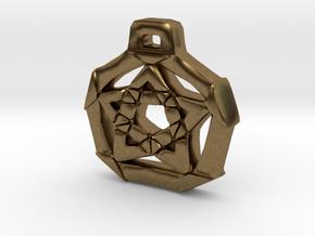 Unique Pentacle pendant in Natural Bronze