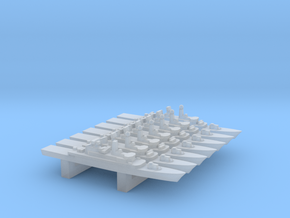 Moudge-Class frigate set, 7pc, 1/6000 in Smooth Fine Detail Plastic