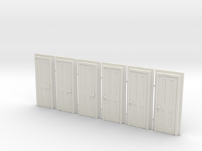 Door Type 5 - 660 X 2000 X 6 in White Natural Versatile Plastic: 1:76