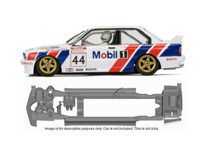 S14-ST4 Chassis for Scalextric BMW E30 SSD/STD in Black Strong & Flexible
