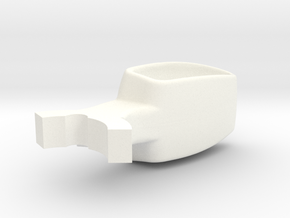 Donkey / Buffalo Brake Pedal insert. in White Strong & Flexible Polished