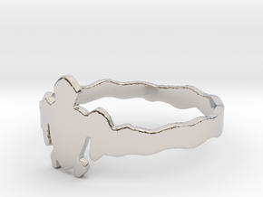 Akumal's Ring (size 10.25) in Rhodium Plated Brass