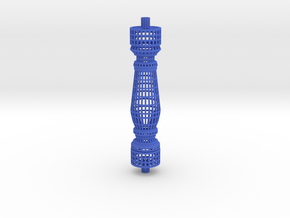 Baluster_wireframe in Blue Strong & Flexible Polished