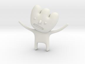 Bubble Head in White Natural Versatile Plastic: 1:110