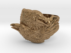 Two Ravens Ring in Natural Brass: 11.5 / 65.25