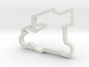 Sprint Car Cookie Cutter in White Strong & Flexible: Small