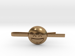 Smiling Eyes Tie Clip in Natural Brass
