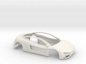 Toosa - Bodywork for slot car in White Natural Versatile Plastic