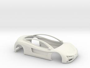 Toosa - Bodywork for slot car in White Natural Versatile Plastic