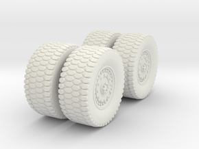 1/72 MATV Wheels in White Natural Versatile Plastic