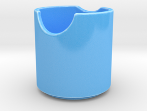 Pattern-Bowl-Cone in Gloss Blue Porcelain