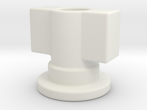 Fort Max Leg Gun Adapter in White Natural Versatile Plastic