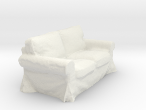 Sofa in White Natural Versatile Plastic