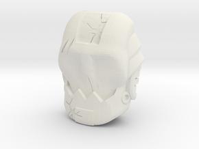 Ten Face (Titans Return) in White Natural Versatile Plastic