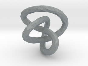 Infinite Knot - Lowpoly in Polished Metallic Plastic