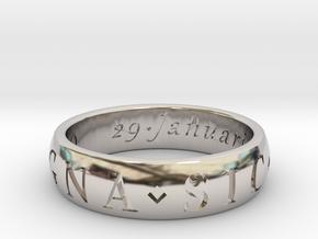 Size 11 Sir Francis Drake, Sic Parvis Magna Ring  in Platinum