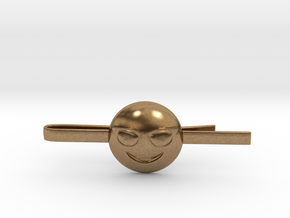 Cool Tie Clip in Natural Brass