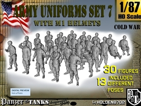 1-87 Army Modern Uniforms Set7 in Smooth Fine Detail Plastic