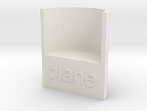 Lasersaur focus:  planar in White Natural Versatile Plastic