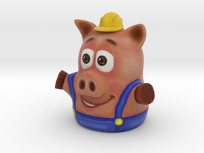 Three Little Pigs Puppet 002 in Full Color Sandstone