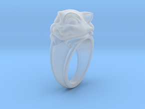 Cat Pet Ring - 18.19mm - US Size 8 in Smooth Fine Detail Plastic