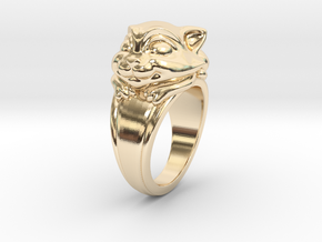 Cat Pet Ring - 18.19mm - US Size 8 in 14K Yellow Gold