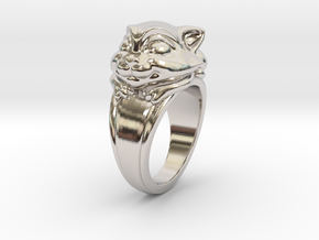 Cat Pet Ring - 18.19mm - US Size 8 in Platinum