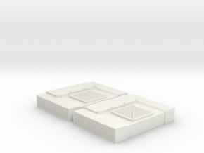 Cab AC Prime 2X (G - 1:29) in White Natural Versatile Plastic