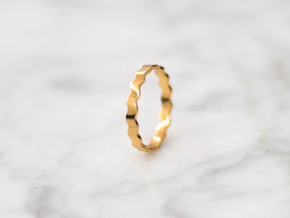 Waves v1   3 sizes   in 18k Gold Plated: 6 / 51.5