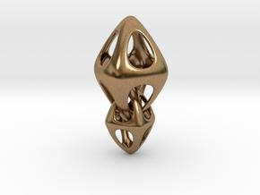 Tetrahedron Double Interlocked in Interlocking Raw Brass