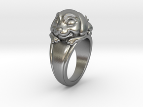 Dog Pet Ring - 18.19mm - US Size 8 in Natural Silver
