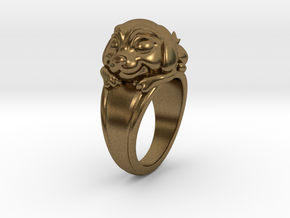 Dog Pet Ring - 18.19mm - US Size 8 in Natural Bronze
