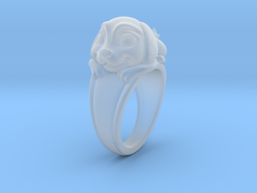 Dog Pet Ring - 18.89mm - US Size 9 in Smooth Fine Detail Plastic