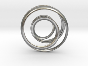 Mobius strip - Pendant in Natural Silver