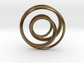 Mobius strip - Pendant in Natural Bronze
