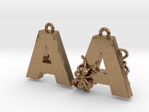 A Is For Ants in Natural Brass