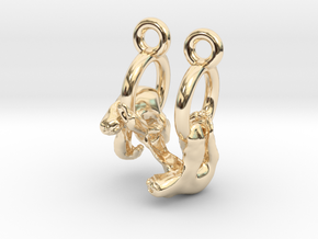 Sloth Earrings in 14K Yellow Gold