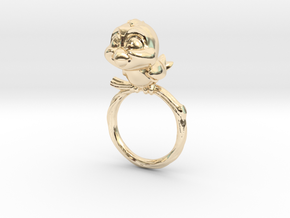 Bird Pet Ring - 18.89mm - US Size 9 in 14K Yellow Gold