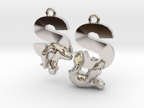 S Is For Sloth in Rhodium Plated Brass