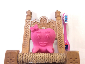 Toothbrush Holder (Girl) in Pink Processed Versatile Plastic