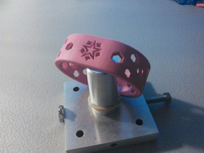 Hollow Band in Pink Processed Versatile Plastic