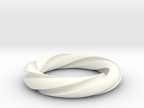 Groovy 3-5 Torus Knot in White Strong & Flexible Polished