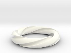 Groovy 3-5 Torus Knot in White Processed Versatile Plastic