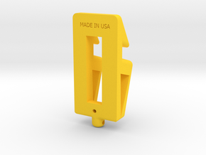 T-HOLDER-A in Yellow Strong & Flexible Polished