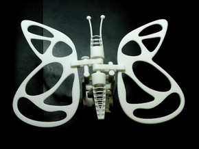 The Butterfly in White Natural Versatile Plastic