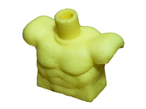 Custom Muscle Torso Lego in Yellow Strong & Flexible Polished