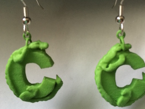 C Is For Crocodile in Green Processed Versatile Plastic