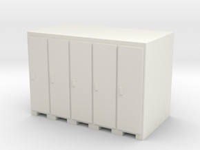 Lockers - OO Scale in White Natural Versatile Plastic